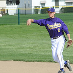 Vermilion Ryan Miller makes a throw to first May 7. Steve Manheim