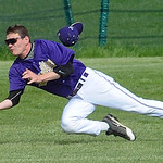 Vermilion Alec Adams makes a diving outfield catch in third inning May 7. Steve Manheim