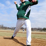 Amherst senior pitcher Grffin Weir gets ready for the season on Mar. 22. Steve Manheim