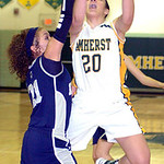 Amherst&#039;s #20 Sydney Falling shoots past Lorain&#039;s #21 Destiny Wilson.