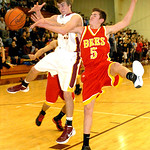 1-24-12 linda murphy</p> <p>AL&#039;s #23 Jimmy Hessell fights for the ball after Brecksville&#039;s #5 Danilo Radjen blocked his shot.