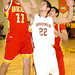 1-24-12 linda murphy</p> <p>AL&#039;s #22 Logan Dilik fights Brecksville&#039;s #11 Mark Chrzanowski for the rebound.