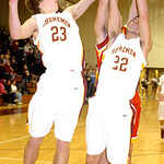 1-24-12 linda murphy</p> <p>AL&#039;s #23 Jimmy Hessell &amp; #22 Logan Dilik fight Brecksville&#039;s #11 Mark Chrzanowski for the ball.