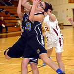 Clearview's #20 Sydney Wright #32 Raquel Santana fight Avon Lake's #22 Maggie Heschel for the rebound.