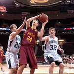 Avon Lake's #24 Mitch Gabanic tries to shoot past Strongsville.