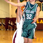 Westlake's #32 Grant Gasse shoots past AL's #14 Dan Reichlin.