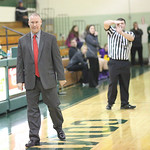 Elyria coach Brian Arth disagrees with a late fourth quarter technical foul, and gets one for himself. RAY RIEDEL/CHRONICLE