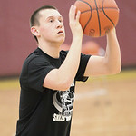 Grant Overy, of Midview, wins the 3-point shoot out competition at Oberlin College. photo by Ray Riedel