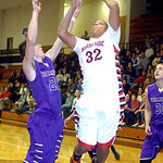 Brookside's Kelvin Jones shoots past Vermilion's Seth Konrad. LINDA MURPHY/CHRONICLE