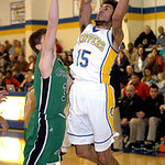 Clearview's Jason Young shoots over Columbia's Brian Hershey. LINDA MURPHY/CHRONICLE