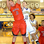 Brookside's Cameron Drew fights Clearview's Eric Burkey for the rebound. LINDA MURPHY/CHRONICLE