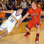 Clearview's Eric Burkey tries to work his way around Brookside's Cameron Drew. LINDA MURPHY/CHRONICLE