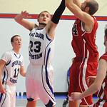 Firelands Cory Peters shoots over Open Door 23 Zach Thomas Dec. 3. Steve Manheim