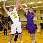 North Ridgeville's Tyler Arnold fights Vermilion's Aaron Dawson for the ball. LINDA MURPHY/CHRONICLE