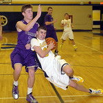 North Ridgeville's Dennis Millgard looses his footing as he tries to work around Vermilion's Aaron Dawson. LINDA MURPHY/CHRONICLE
