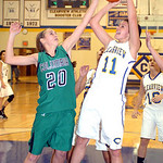 Clearview's #11 MacKenzie Mielcarek shoots past Columbia's #20 Amy Mirecki.