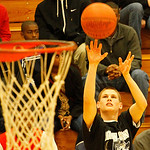 Elyria's Kody Bender, the first-round winner of the 3-point contest, lost by a point in the finals. Photo by Tom Mahl