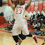 Elyria Ronnie Smith goes to hoop Dec. 4.  Steve manheim