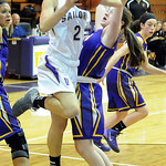 Vermilion's Hannah Bartlome goes up for shot over Avon's Alyssa Douzos. STEVE MANHEIM/CHRONICLE