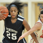 Elyria's Samantha Harjar, right, defends Jailyn Reed of Twinsburg. DAVID RICHARD / CHRONICLE