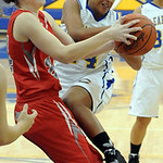 Clearview's Kelli Warren is blocked by Fairview's Rachel Malloy. STEVE MANHEIM/CHRONICLE