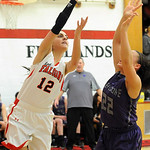 Firelands' Alyssa Melendez shoots over Keystone's Darcy Irish. STEVE MANHEIM/CHRONICLE