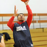 Jason Moore of Oberlin, Lorain County Div. III player of the year, at Oberlin High gym on Mar. 12. Steve Manheim