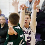 Keystone's Collin Fitzgerald goes up for a shot over Cloverleaf's Brady Kotlarek during the second quarter. (RON SCHWANE / CT)