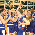 The Open Door Patriots celebrate their regional championship in 2003.