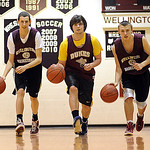 Brady Shaw, left, Jason Perry and Zac Gilbert of Wellington on Feb. 24. Steve Manheim