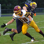 North Ridgeville&#039;s Logan Armaro breaks up the pass to Avon Lake&#039;s Jeremiah Campo.<br /> Linda Murphy/Chronicle