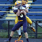 North Rigeville&#039;s Bailey Gannon intercepts a pass to Matt Gottshall.<br/>Linda Murphy/Chronicle