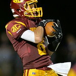 Avon Lake defender Toy Carson intercepts a pass in the third quarter against Avon.<br /> DAVID RICHARD / CHRONICLE