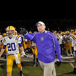 Avon head coach Mike Elder during the state semi final game against Aurora on November 25, 2011 in Parma.
