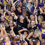 Avon students cheer after an Eagles touchdown.<br /> Photo by Linda Murphy