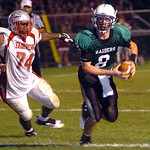10-4-13 linda murphy</p><p>columbia&#039;s quarterback #8 Jay Banyasz runs for a touchdown past fairview&#039;s #74 Cortez Harris