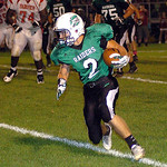 10-4-13 linda murphy</p> <p>columbia&#039;s #2 Jesse Lambert runs for yardage against fairview.