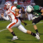 10-4-13 linda murphy</p><p>fairview&#039;s quarterback #9 Jason Kish runs for yardage with columbia&#039;s #19 Justin Reznik in pursuit