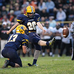 13SEP13_Ryan Blagojevic scores another extra point in the 2nd quarter at North Ridgeville High School. photo by Ray Riedel