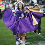 Vermilion lead majorette Morgan Walker performs at halftime. photo by Ray Riedel