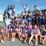 Brunswick fans tailgate prior to the Blue Devils taking on Medina for the first week of Friday night football. Photo by Aaron Josefczyk