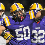 Avon's Domonic Bodnar celebrates a sack late in the fourth quarter. DAVID RICHARD / CHRONICLE