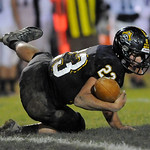 Black River's Andrew Vaughn can't hang onto an interception in the second quarter.  JUDD SMERGLIA/CHRONICLE