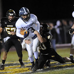Black River's Chris Kane tackles Fairless' Christian Sommers in the second quarter. JUDD SMERGLIA/CHRONICLE