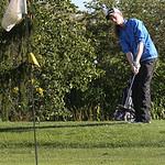 Kaitlin Neumann of Avon pitches the ball onto the green during the Avon vs. Avon Lake match.