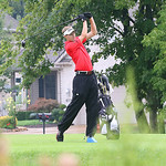 Kevin Koepp of Elyria drives the ball during action at Greyhawk in Lagrange.