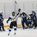 Avon's Eric Novakovic celebrates after his second goal of the game against Cleveland Benedictine at North Olmsted Recreation Center. photo by Ray Riedel