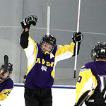 ANNA NORRIS/CHRONICLE<br /> Avon&#039;s Alex Guzik (44) celebrates after scoring a goal against North Olmsted in the second period Sunday afternoon at the North Olmsted Recreation Complex.