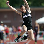 Jenna Quillen places 7th in long jump at the OHSAA state championship. photo by Ray Riedel