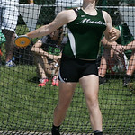 Medina's Carolyn Wilder places 8th in discus at the OHSAA state championship. photo by Ray Riedel